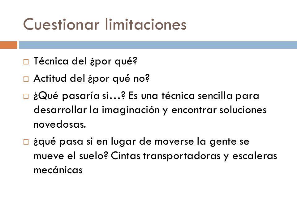 Cuestionar limitaciones