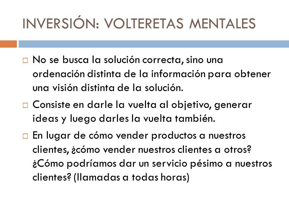 INVERSIÓN: VOLTERETAS MENTALES