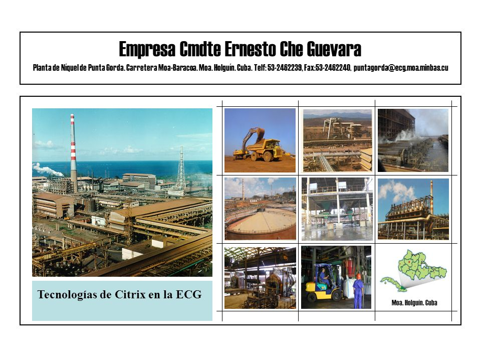Empresa Cmdte Ernesto Che Guevara Planta de Níquel de Punta Gorda