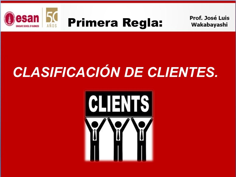 CLASIFICACIÓN DE CLIENTES.