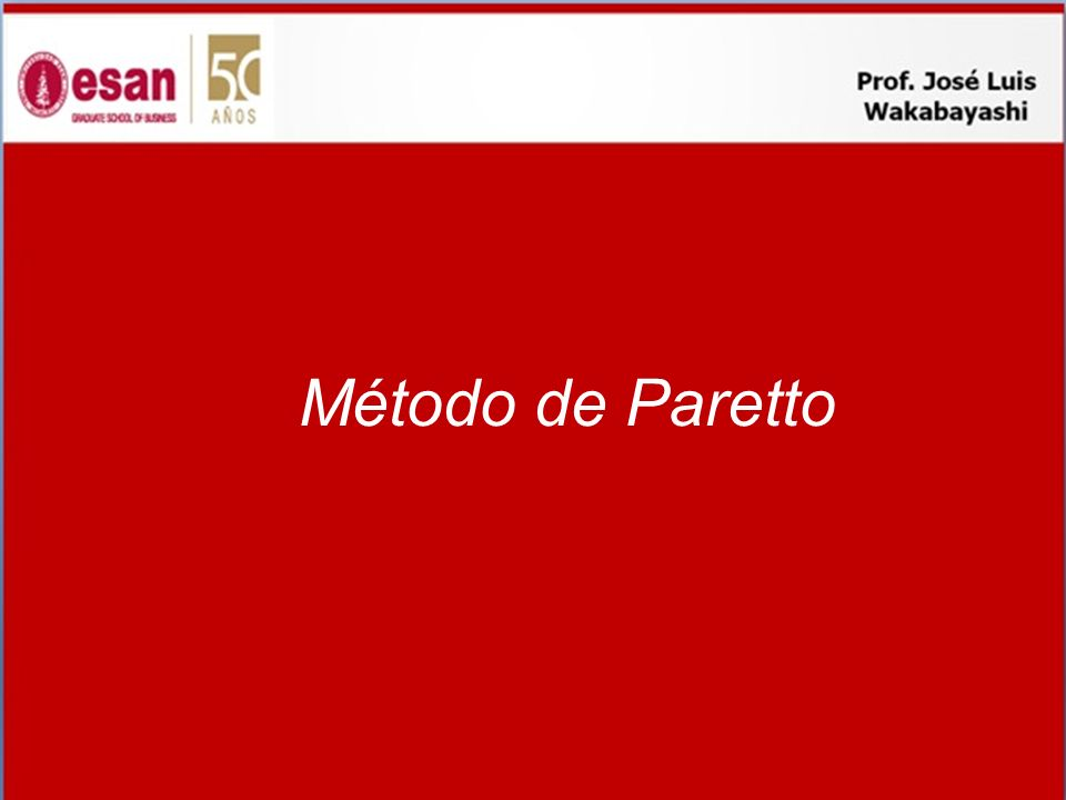 Método de Paretto