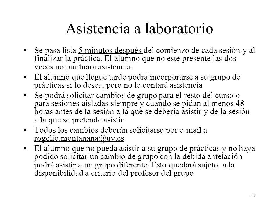 Asistencia a laboratorio