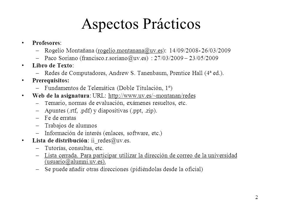 Aspectos Prácticos Profesores: