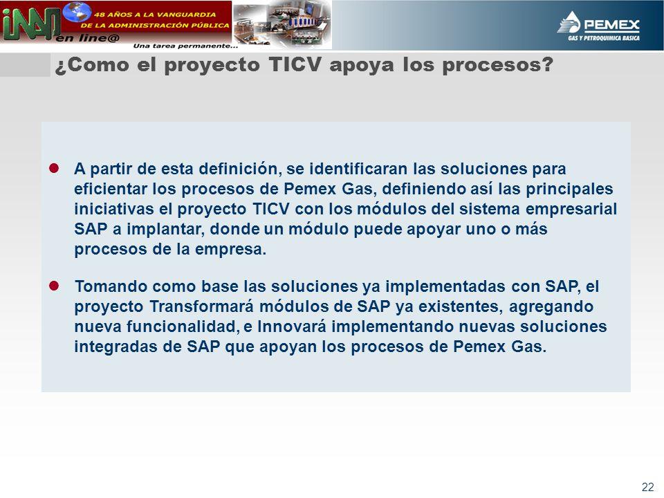 ¿Como el proyecto TICV apoya los procesos