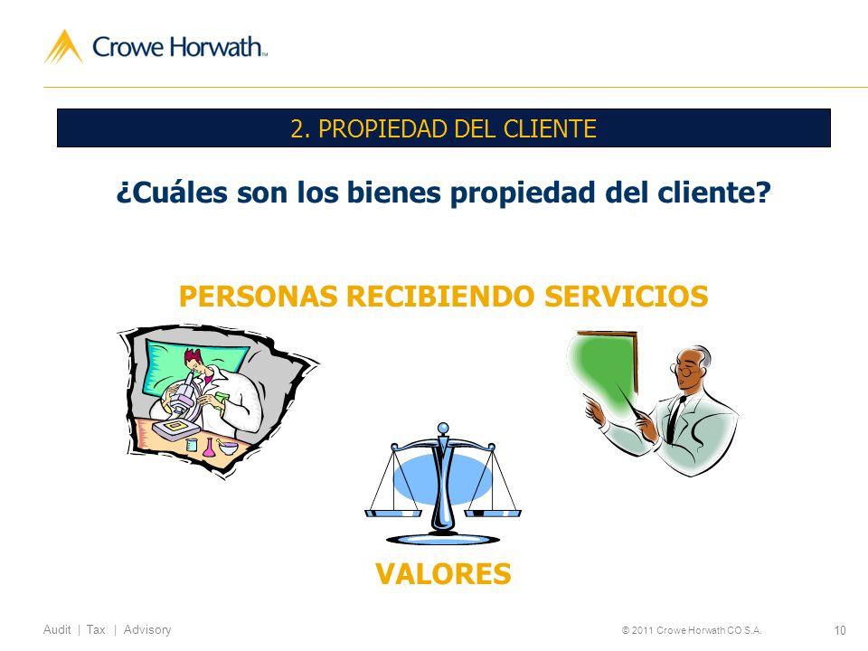 ¿Cuáles son los bienes propiedad del cliente