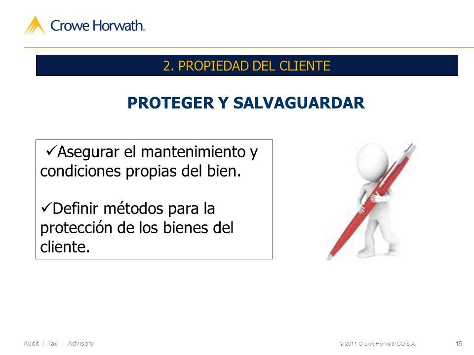 PROTEGER Y SALVAGUARDAR
