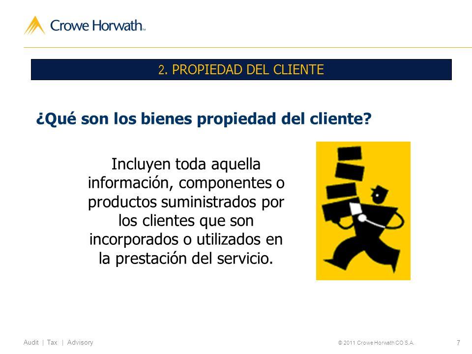 ¿Qué son los bienes propiedad del cliente