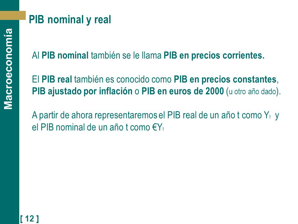 PIB nominal y real