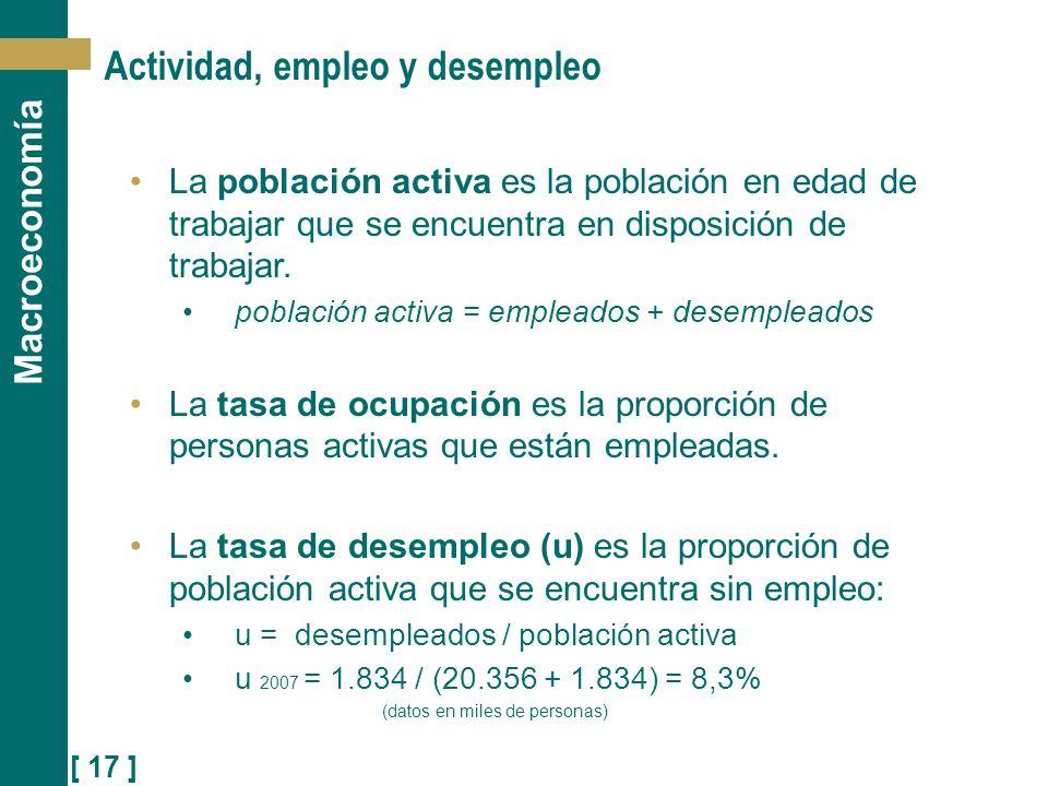 Actividad, empleo y desempleo