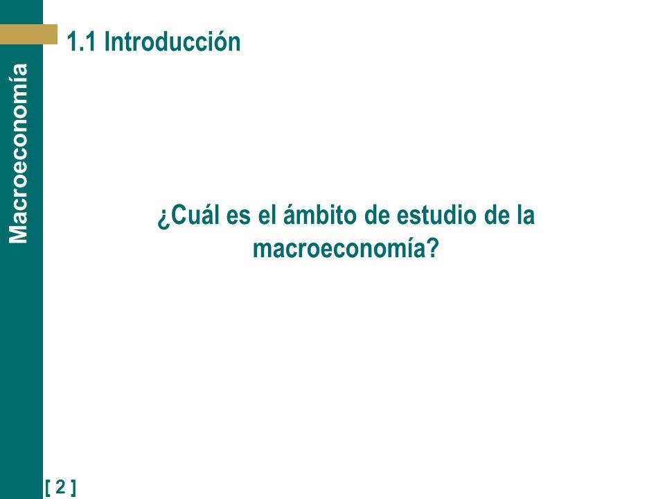 ¿Cuál es el ámbito de estudio de la macroeconomía