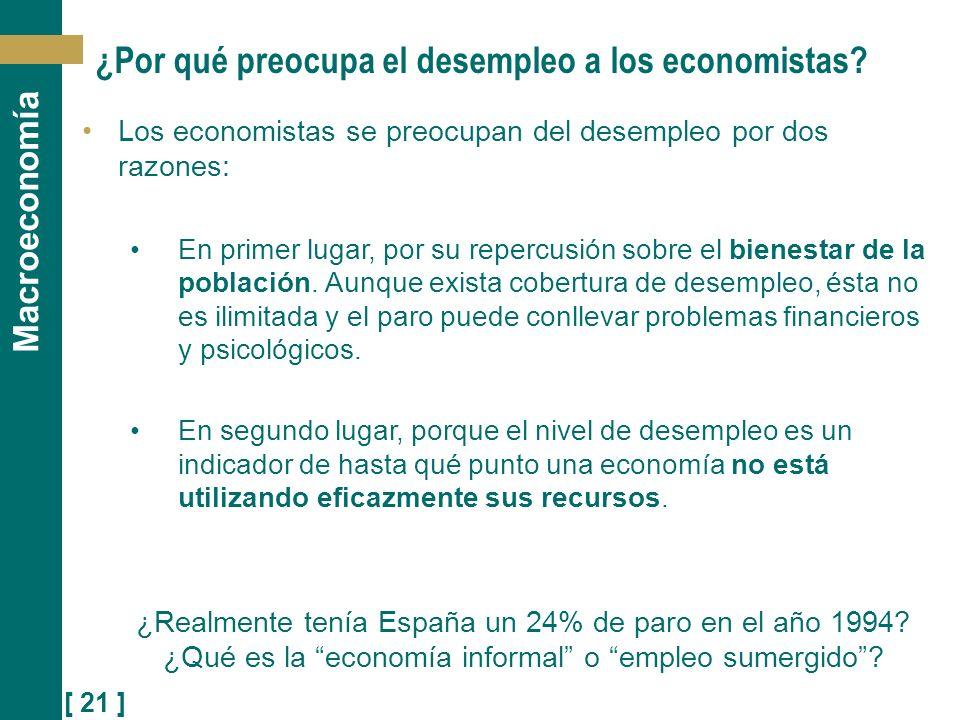 ¿Por qué preocupa el desempleo a los economistas