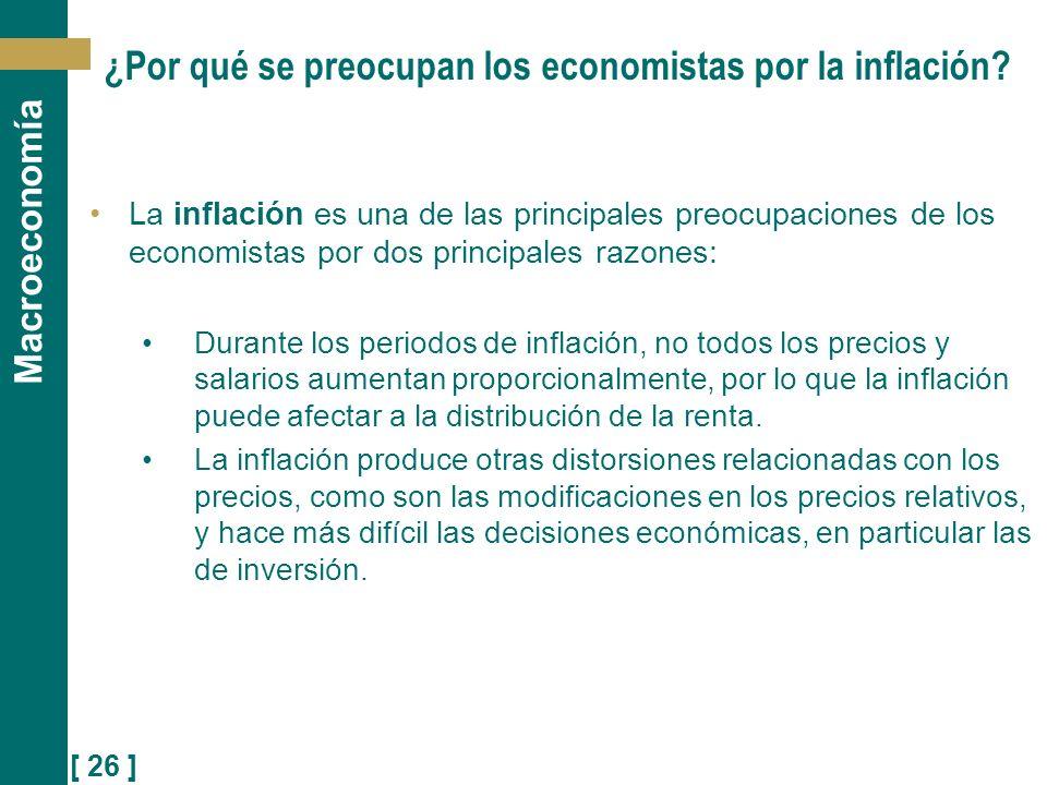 ¿Por qué se preocupan los economistas por la inflación