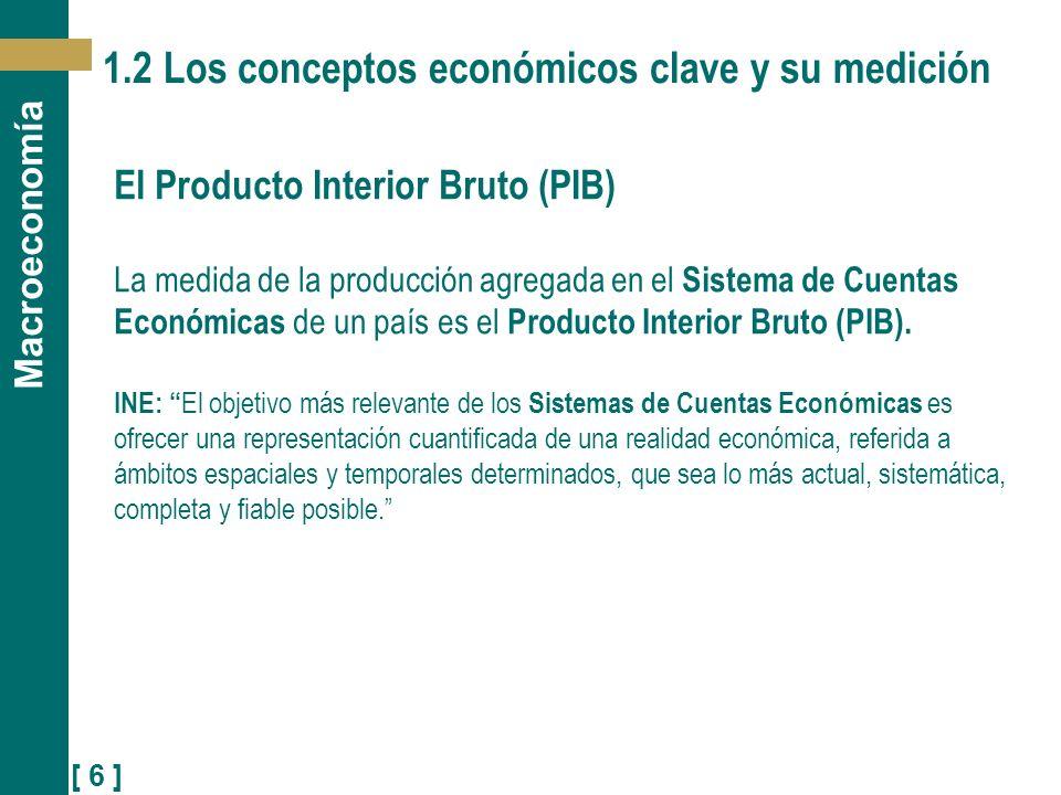 1.2 Los conceptos económicos clave y su medición