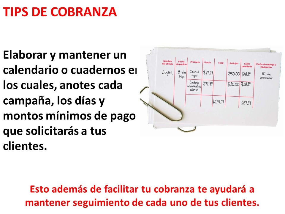 TIPS DE COBRANZA
