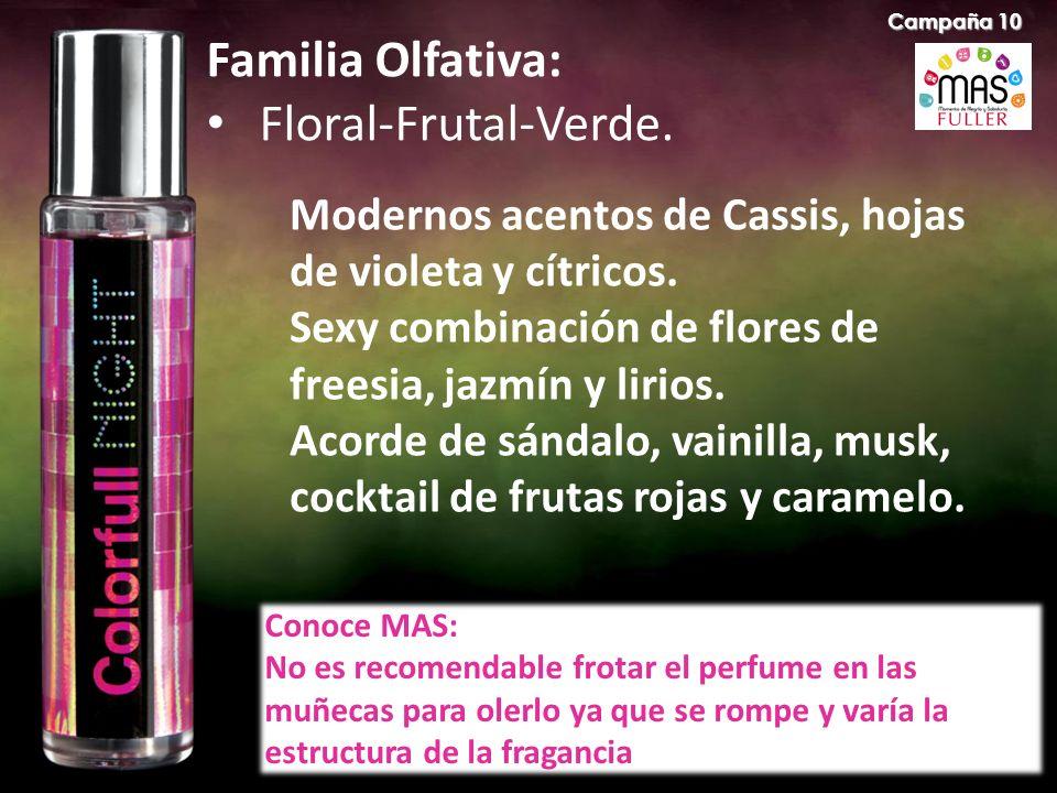 Familia Olfativa: Floral-Frutal-Verde.