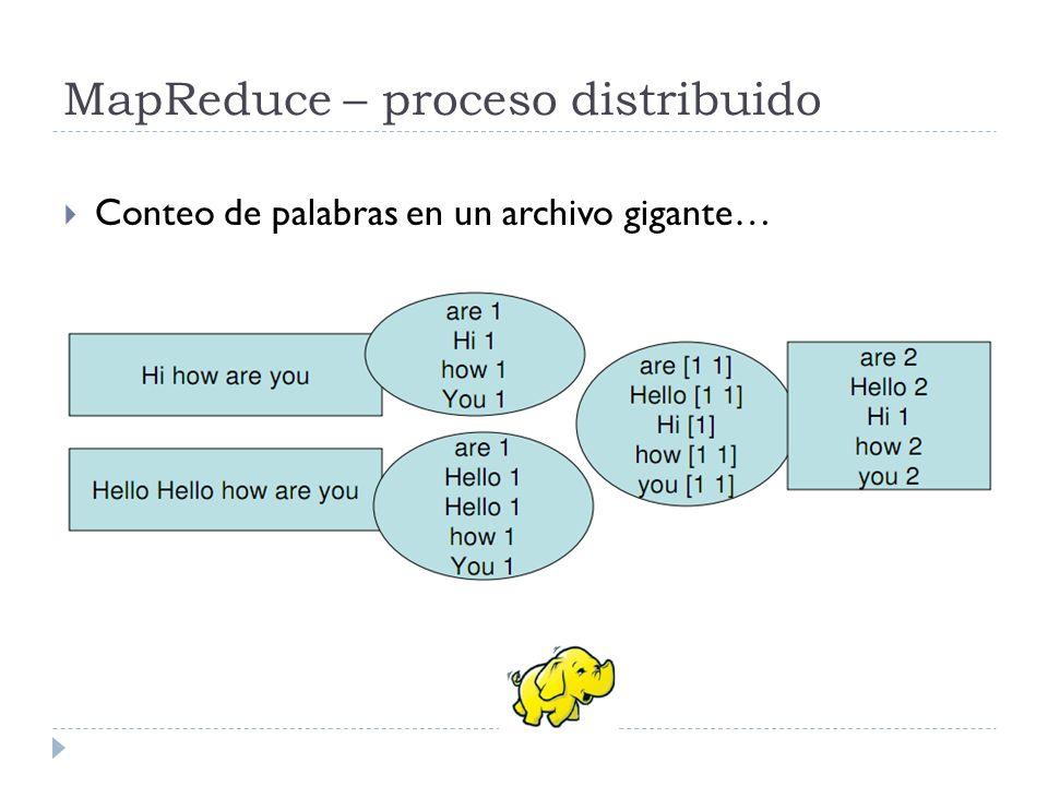 MapReduce – proceso distribuido