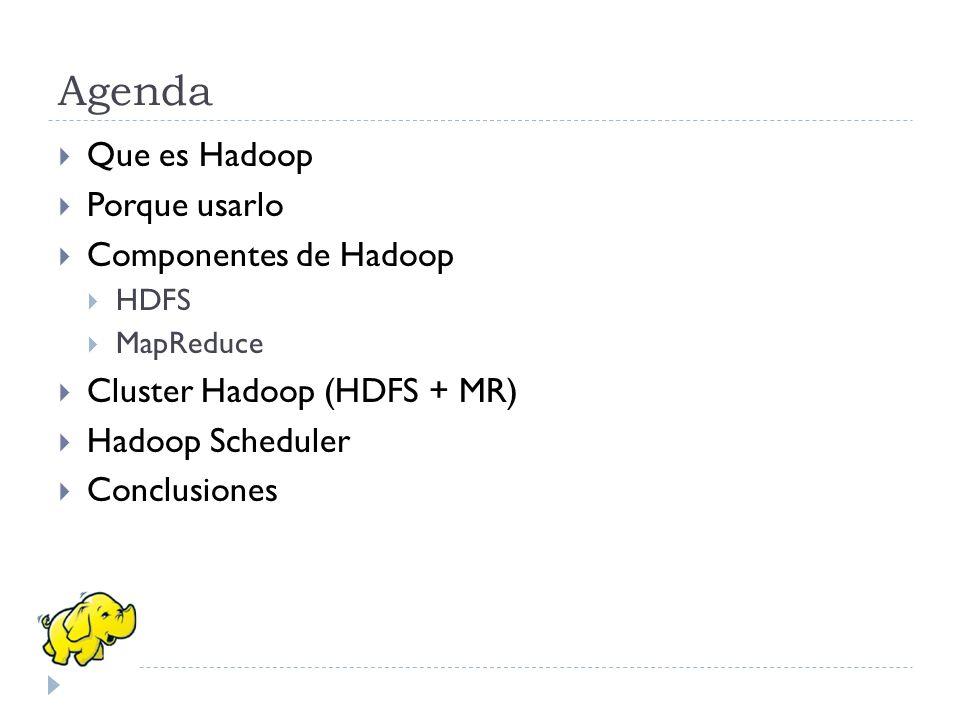 Agenda Que es Hadoop Porque usarlo Componentes de Hadoop