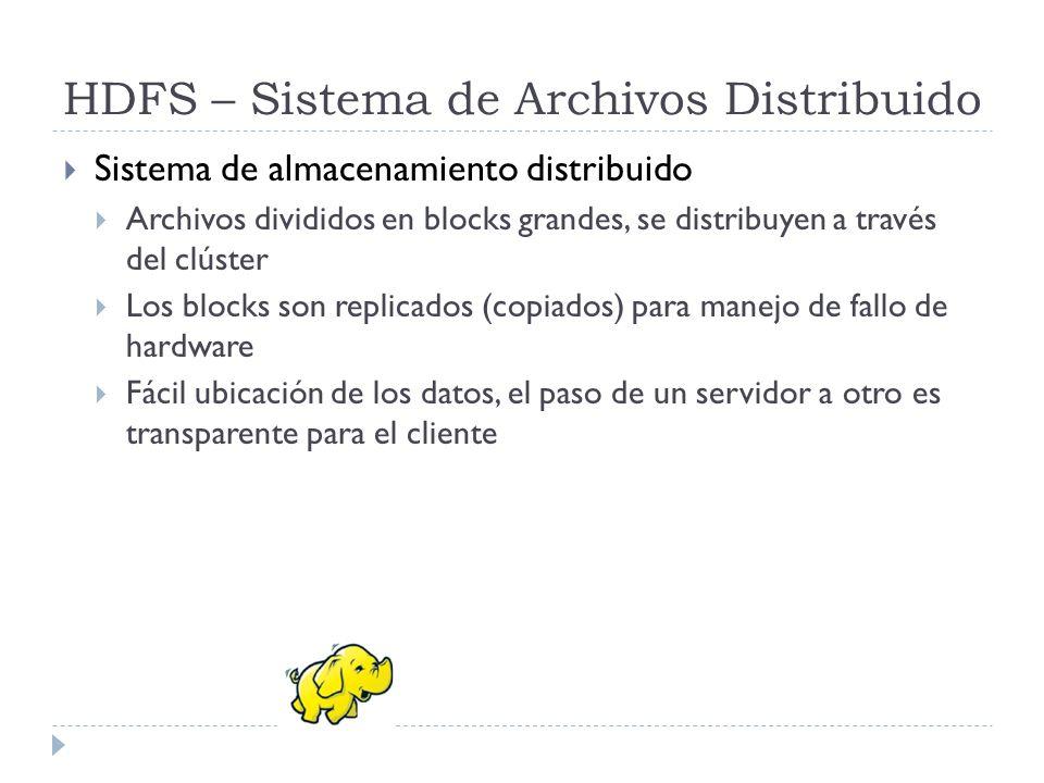 HDFS – Sistema de Archivos Distribuido