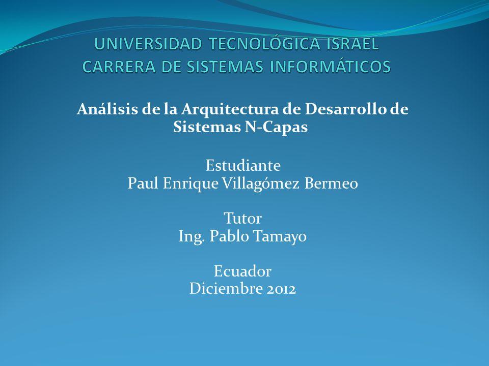 UNIVERSIDAD TECNOLÓGICA ISRAEL CARRERA DE SISTEMAS INFORMÁTICOS