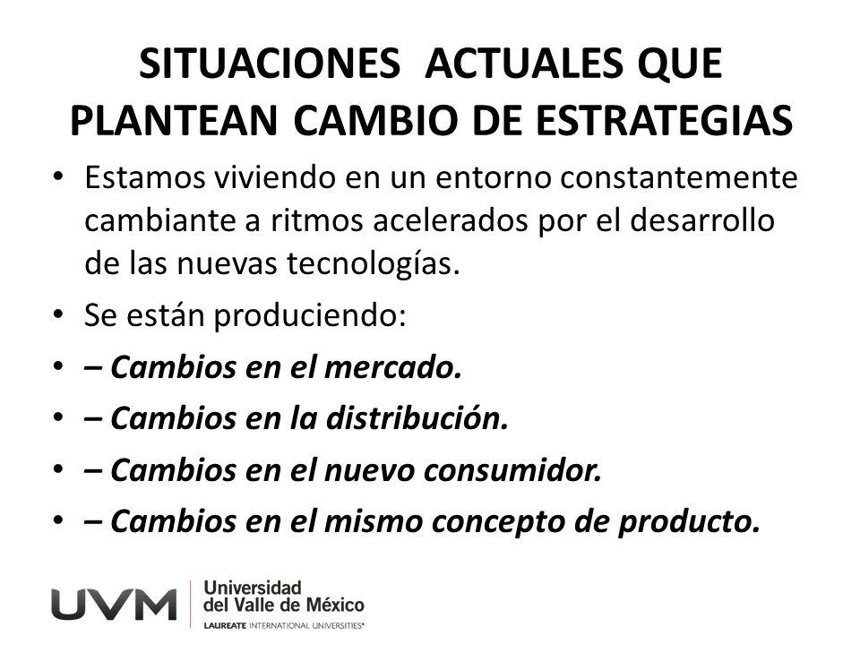 SITUACIONES ACTUALES QUE PLANTEAN CAMBIO DE ESTRATEGIAS