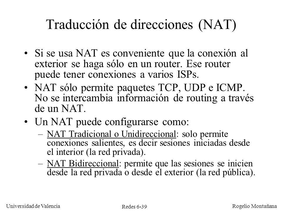 Traducción de direcciones (NAT)