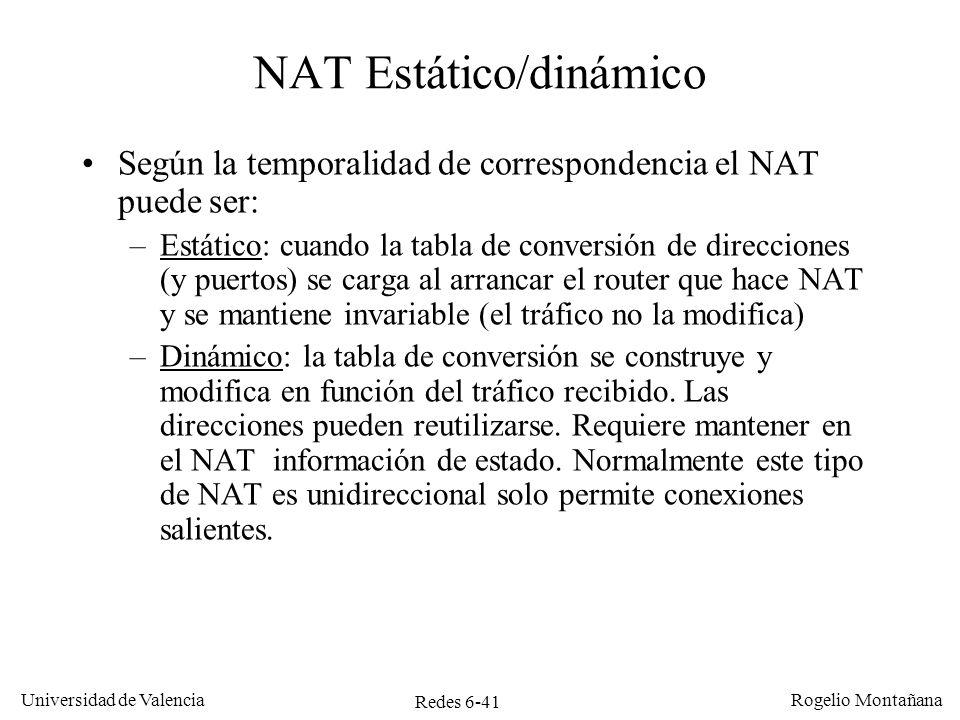 NAT Estático/dinámico