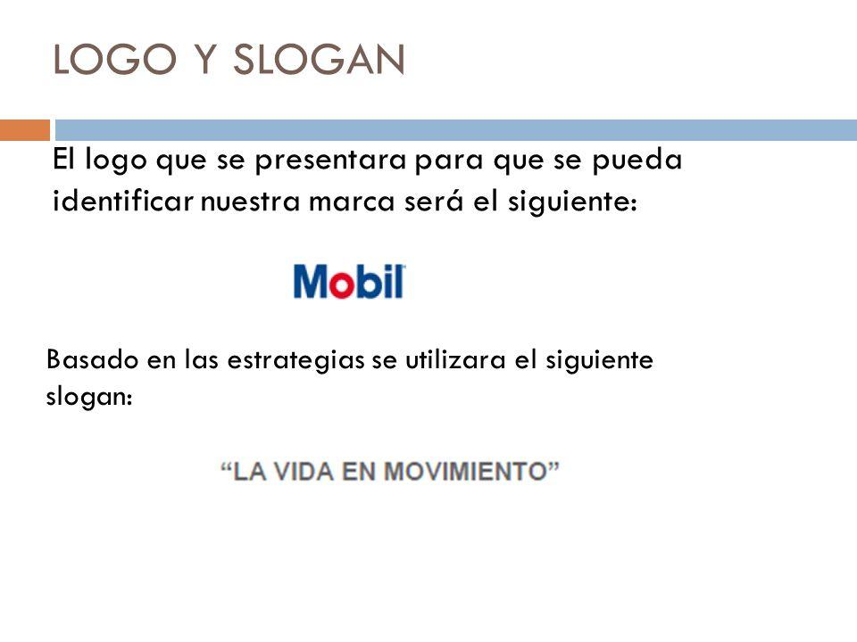 LOGO Y SLOGAN El logo que se presentara para que se pueda identificar nuestra marca será el siguiente: