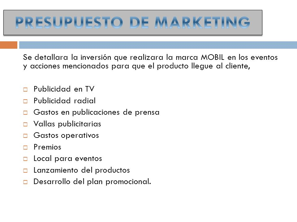PRESUPUESTO DE MARKETING
