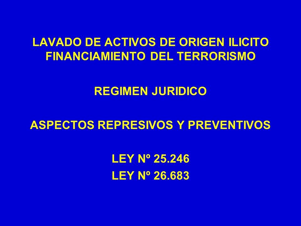LAVADO DE ACTIVOS DE ORIGEN ILICITO FINANCIAMIENTO DEL TERRORISMO