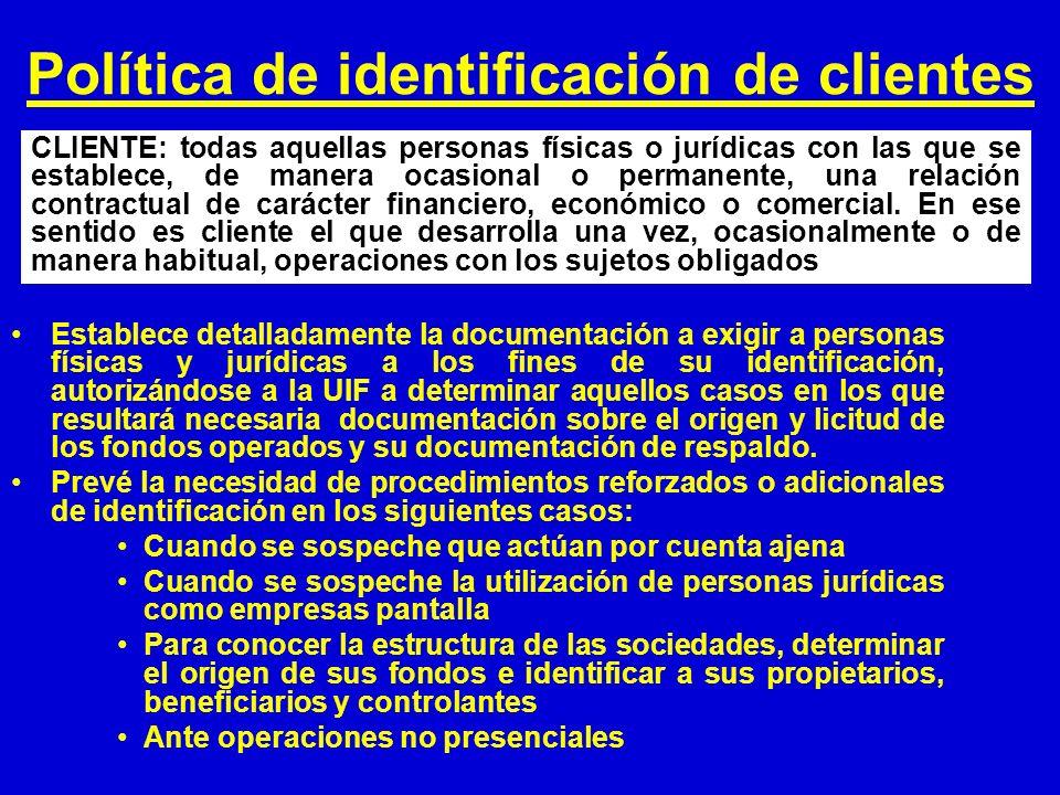 Política de identificación de clientes