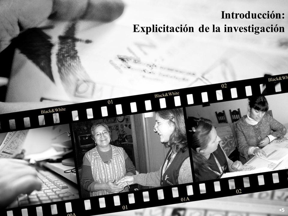 Introducción: Explicitación de la investigación