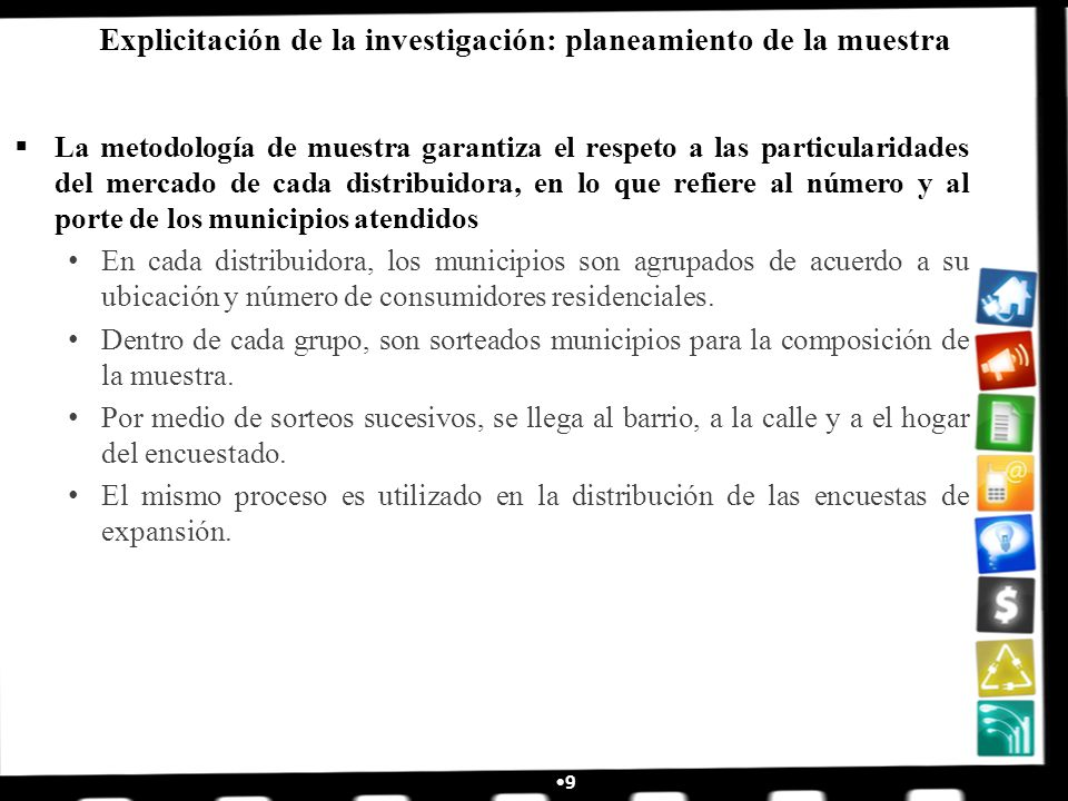 Explicitación de la investigación: planeamiento de la muestra