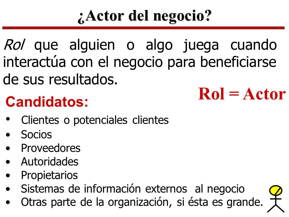 Rol = Actor ¿Actor del negocio