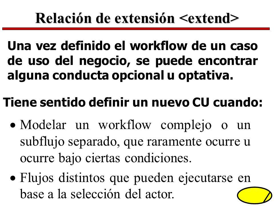 Relación de extensión <extend>