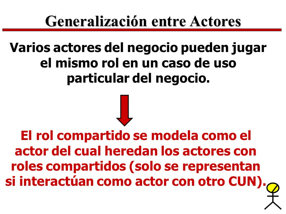 Generalización entre Actores