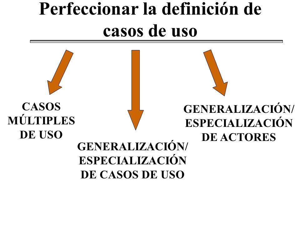 Perfeccionar la definición de casos de uso