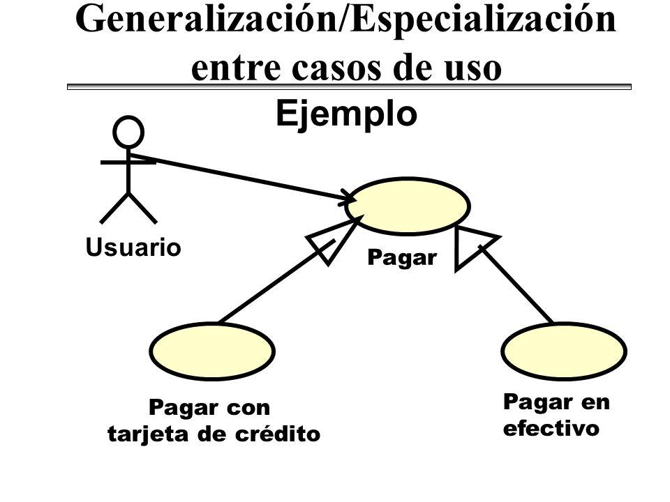 Generalización/Especialización entre casos de uso