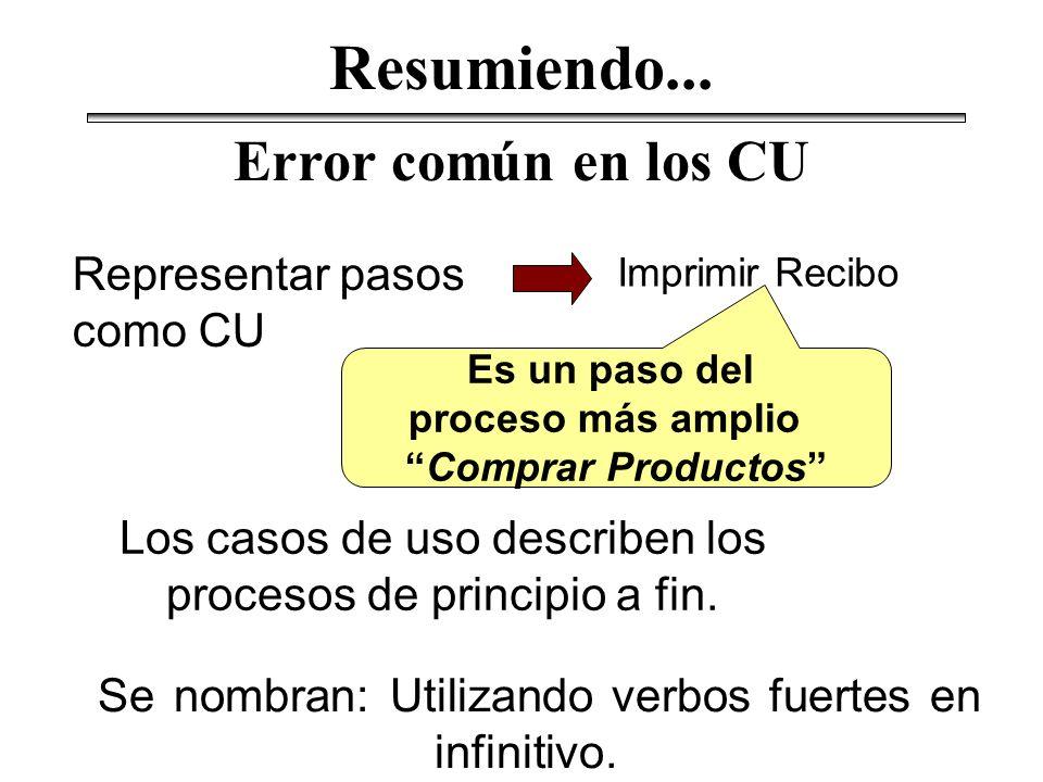 Los casos de uso describen los procesos de principio a fin.