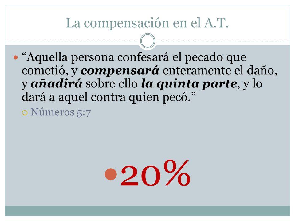 La compensación en el A.T.