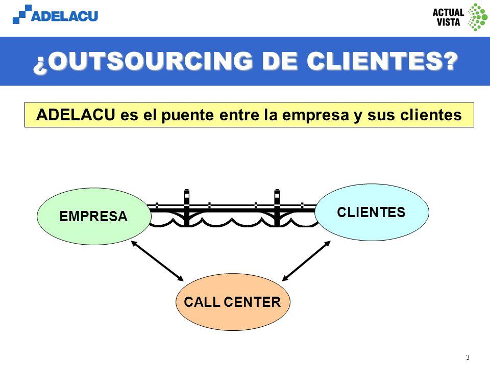 ¿OUTSOURCING DE CLIENTES