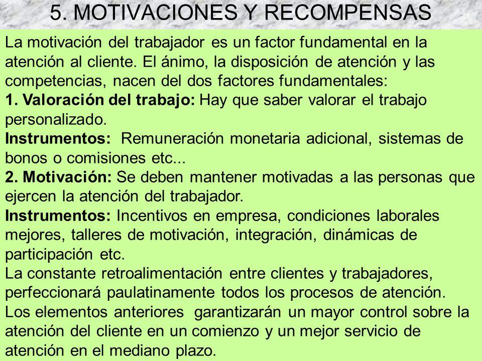 5. MOTIVACIONES Y RECOMPENSAS