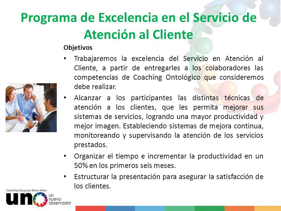 Programa de Excelencia en el Servicio de Atención al Cliente