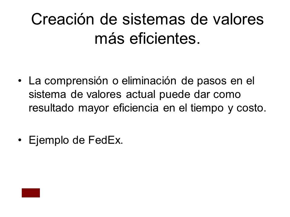 Creación de sistemas de valores más eficientes.