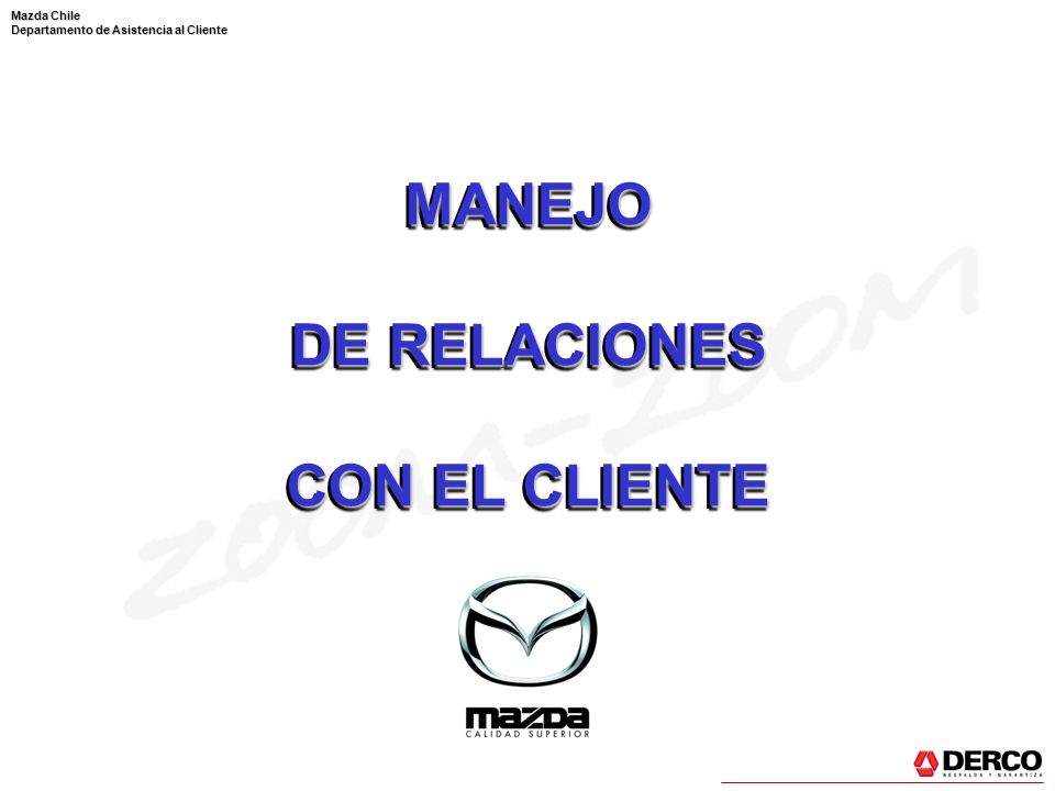 MANEJO DE RELACIONES CON EL CLIENTE