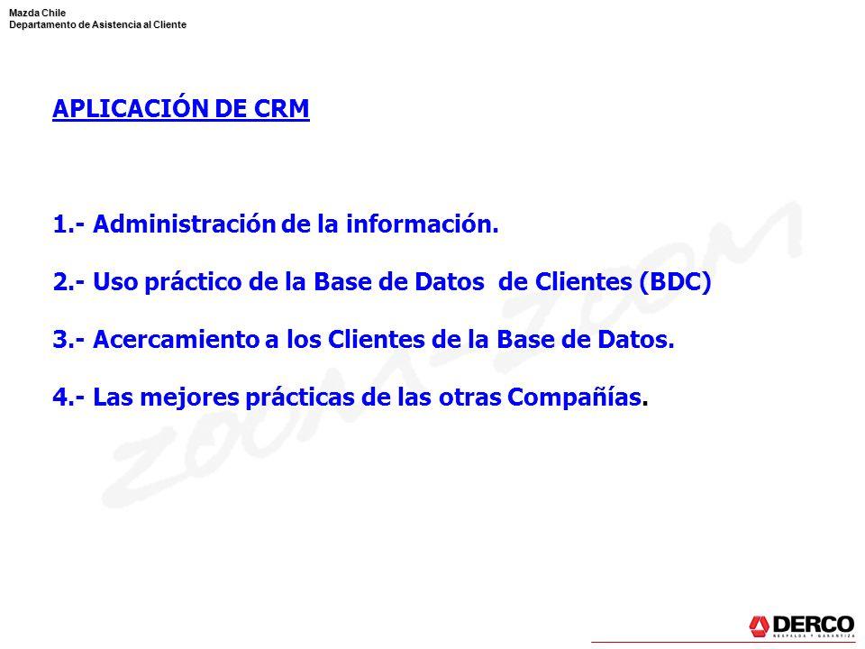 1.- Administración de la información.