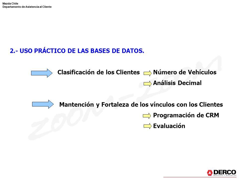 2.- USO PRÁCTICO DE LAS BASES DE DATOS.