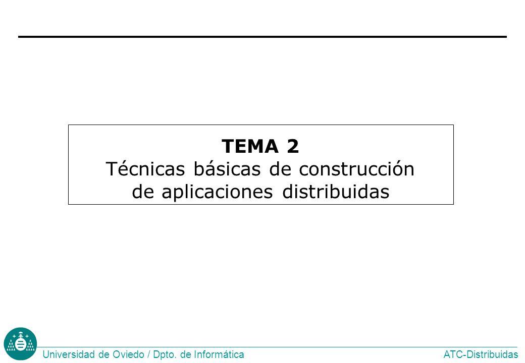 TEMA 2 Técnicas básicas de construcción de aplicaciones distribuidas