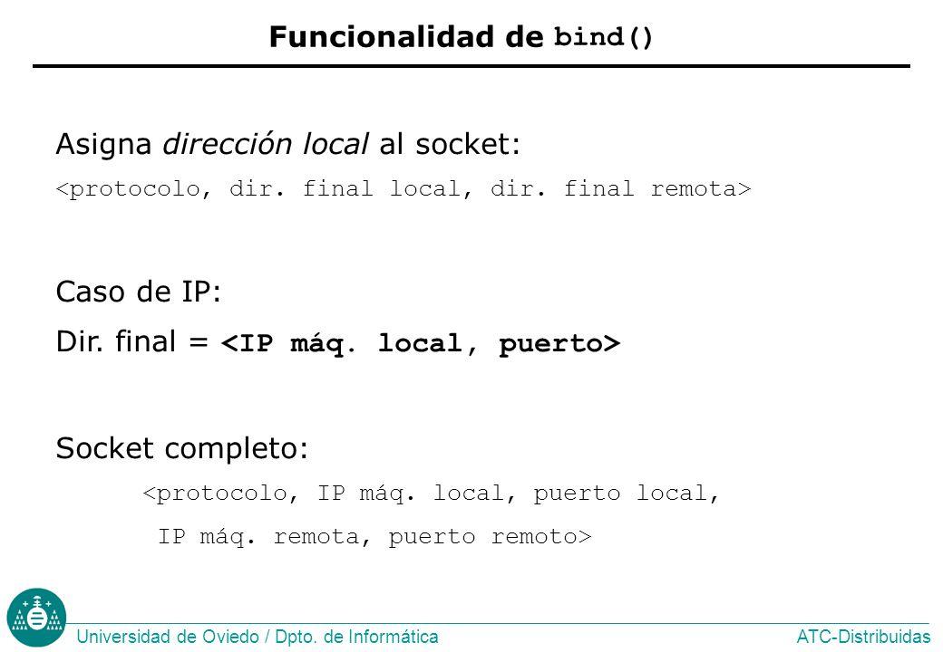 Funcionalidad de bind()