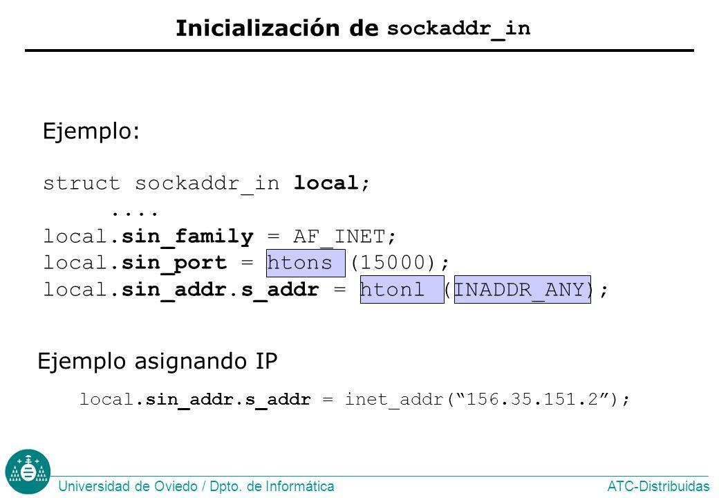 Inicialización de sockaddr_in