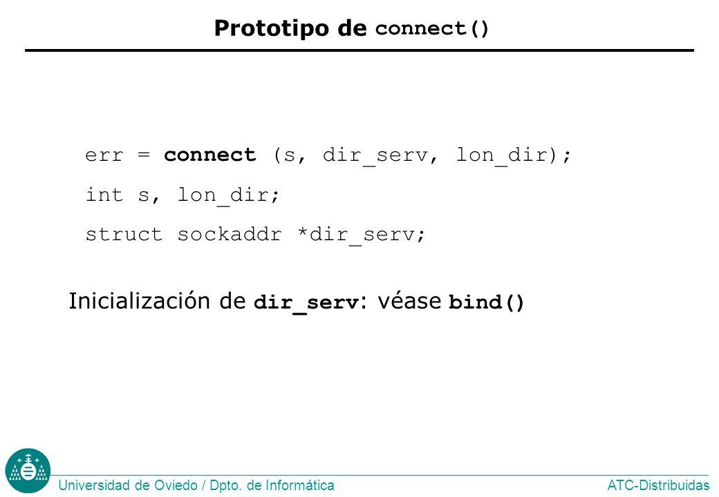 Prototipo de connect()